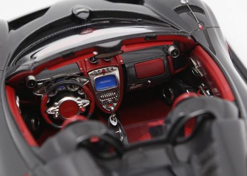 1/12 BBR Pagani Huayra Roadster (Grey w/ Red Rims) Limited 20 Resin Car Model