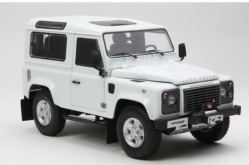 1/18 Kyosho Land Rover Defender 90 Short Wheelbase (White) Diecast Car Model