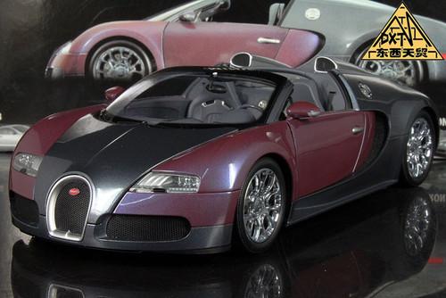1/18 Minichamps 2009 Bugatti Veyron 16.4 (GRAY / LILA) Diecast Car Model