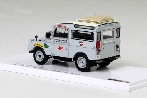 1/43 TSM 1955 Land Rover Series I Defender 90 Oxford & Cambridge For Eastern Expedition (Grey) Enclosed Diecast Car Model