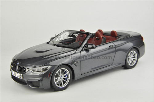 RARE 1/18 Dealer Edition BMW M4 F83 Convertible (Grey) Diecast Car Model
