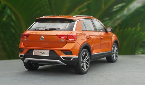 1/18 Dealer Edition Volkswagen VW T-ROC TROC (Orange) Diecast Car Model