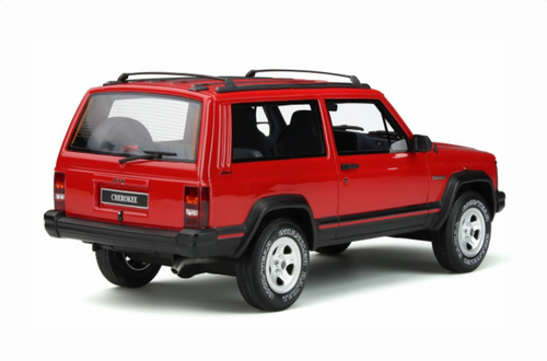 1/18 OTTO Jeep Cherokee 2.5 EFI (Red) Enclosed Car Model Limited 2000