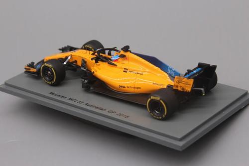 1/43 Spark Formula 1 F1 Alonso McLaren MCL33 Australian GP 2018 Diecast Car Model