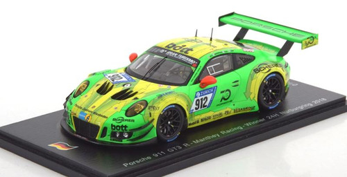 1/43 Spark Porsche 911 GT3 R Manthey Racing Winner 24H Nurburgring 2018 Car Model Limited 1500