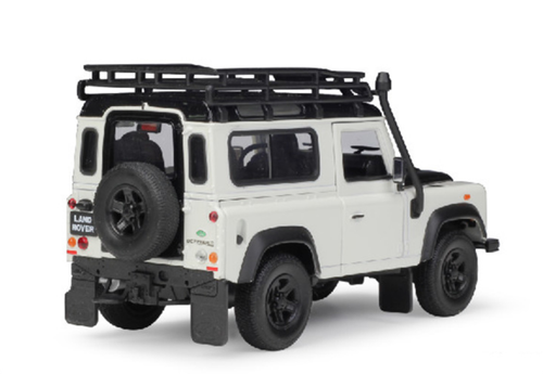1/24 Welly Land Rover Defender Fire Ice (White) Diecast Car Model