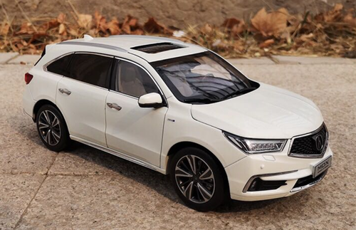1/18 Dealer Edition 2018 Acura MDX (White) Diecast Car Model