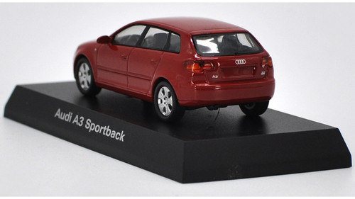 1/64 Kyosho Audi A3 Sportback (Red) Diecast Car Model