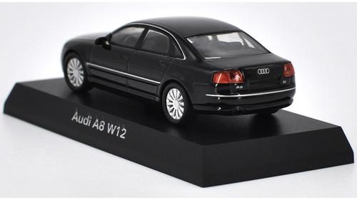 1/64 Kyosho Audi A8 W12 (Black) Diecast Car Model