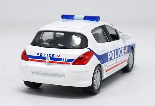 1/43 Norev Peugeot 308 Police Car Diecast Car Model