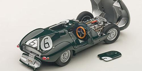 1/43 JAGUAR D-TYPE LEMANS 24HR RACE 1955 WINNER J.M. HAWTHORN / I.L. BUEB #6 (WITH OPENINGS) Diecast Car Model