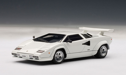 1 43 Autoart Lamborghini Countach 5000 S 5000s White Diecast Car