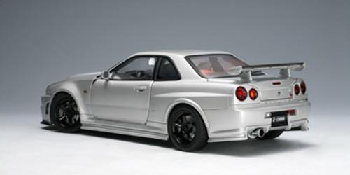 1/18 AUTOart 2005 Nissan Skyline GT-R GTR (R34) Nismo Z-tune (Silver) Diecast Car Model 77356