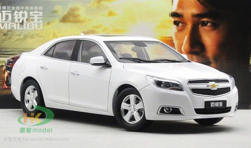 1/18 Dealer Edition Chevrolet Chevy Malibu (White) Diecast Car Model