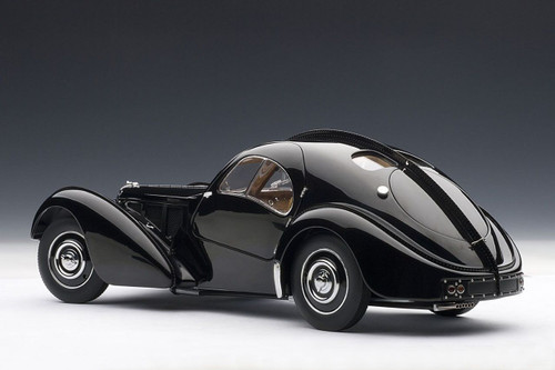 RARE 1/18 AUTOart Bugatti Coupé Atlantic Type 57 SC 57SC 1938 Schwarz Black Diecast Car Model