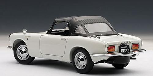 1/18 AUTOart HONDA S800 ROADSTER 1966 (WHITE) Diecast Car Model