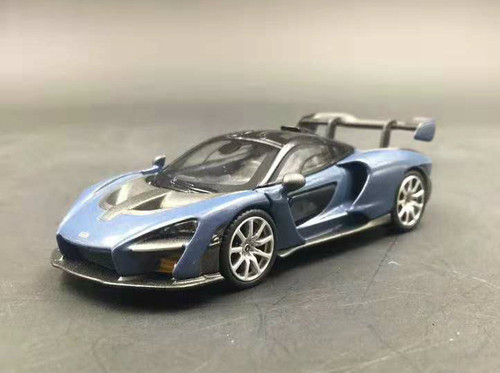 1/64 TSM MINI GT McLaren Senna (Blue) Diecast Car Model