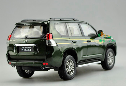 1/18 Dealer Edition Toyota Prado (Green w/ Stripes) Diecast Car Model