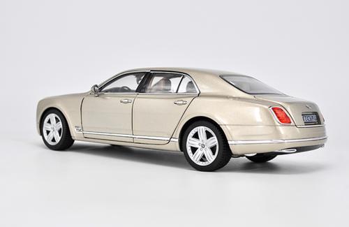 1/18 Rastar Bentley Mulsanne (Champagne) Diecast Car Model