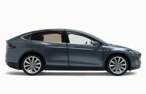 1/18 Dealer Edition Tesla Model X P100D (Grey) Full Open Diecast Car Model