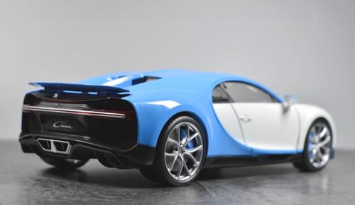 1/18 GTAUTOS GTA Bugatti Chiron (White/Blue) Diecast Car Model