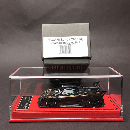 1/43 Peako Resin Pagani Zonda 760 LM 760LM (Chameleon Gold) Car Model Limited 30