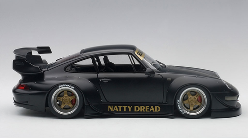 1/18 AUTOart Porsche 911 RWB 993 (MATT BLACK/GOLD WHEELS) Diecast Car Model