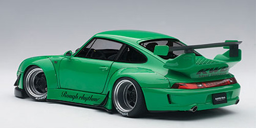 1/18 AUTOart Porsche 911 RWB 993 (GREEN/GUN GREY WHEELS) Diecast Car Model