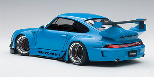 1/18 AUTOart Porsche 911 RWB 993 (BLUE/GUN GREY WHEELS) Diecast Car Model