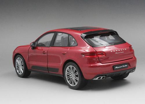 1/24 Welly FX Porsche Macan Turbo (Red) Diecast Car Model