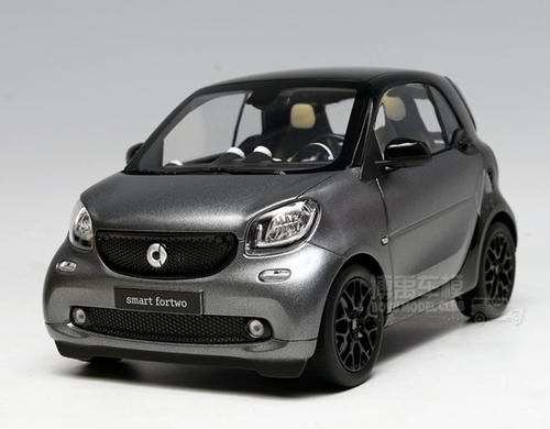 1/18 Dealer Edition Mercedes-Benz MB Smart Fortwo Coupe Hardtop (Grey) Diecast Car Model