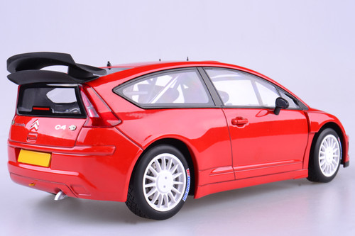 1/18 AUTOart CITROEN C4 WRC PLAIN BODY VERSION - RED Diecast Car Model