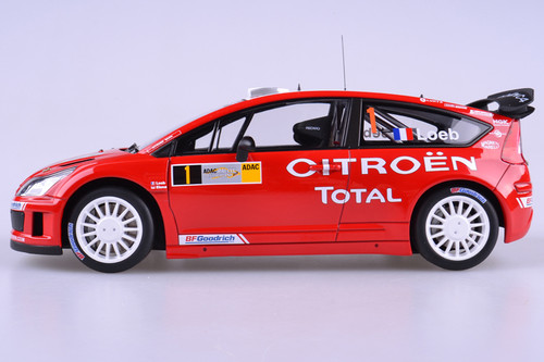 1/18 AUTOart CITROEN C4 WRC 2007 S.LOEB / D.ELENA #1 (WINNER OF RALLY DEUTSCHLAND) Diecast Car Model