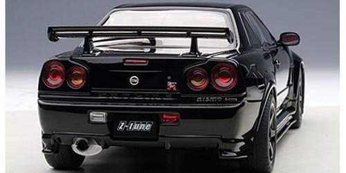 1/18 AUTOart NISSAN NISMO R34 GT-R GTR Z-TUNE(BLACK) Diecast Car Model 77355