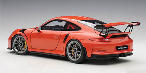 1/18 AUTOart PORSCHE 911(991) GT3 RS (LAVA ORANGE/DARK GREY WHEELS) Diecast Car Model