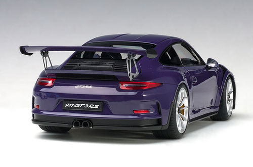 1/18 AUTOart PORSCHE 911(991) GT3 RS (ULTRAVIOLET/SILVER WHEELS) Diecast Car Model