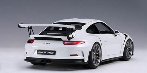 1/18 AUTOart PORSCHE 911(991) GT3 RS (WHITE/DARK GREY WHEELS) Diecast Car Model