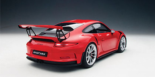 1/18 AUTOart PORSCHE 911(991) GT3 RS (GUARDS RED/SILVER WHEELS) Diecast Car Model