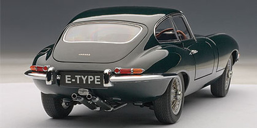 1/18 AUTOart JAGUAR E-TYPE COUPE SERIES I 3.8 (GREEN)(WITH METAL WIRE-SPOKE WHEELS) NEW RECOMMENDED	 Diecast Car Model 73612