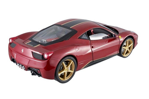 1/18 Hot Wheels Elite Hotwheels Ferrari 458 Italia China Dragon Edition (Red) Diecast Car Model