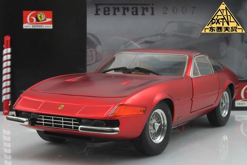 1/18 Hot Wheels Elite Hotwheels Ferrari 365 GTB4 GTB-4 (Red) Diecast Car Model