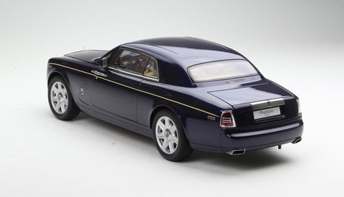 1/18 KYOSHO ROLLS-ROYCE PHANTOM COUPE Hardtop (Blue) Diecast Car Model
