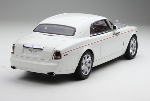 1/18 KYOSHO ROLLS-ROYCE PHANTOM COUPE Hardtop (White w/ Silver Hood) Diecast Car Model