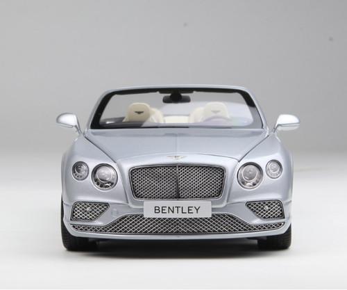 1/18 Paragon 2016 Bentley Continental GT Convertible (Silver) Diecast Car Model