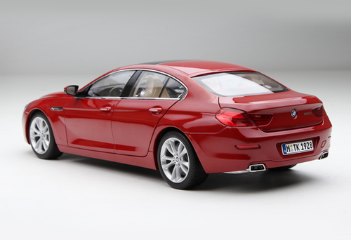 1/18 Paragon BMW 6 Series 650i GranCoupe (Red) Diecast Car Model