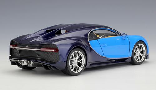 1/24 Welly FX Bugatti Chiron (Blue) Diecast Car Model