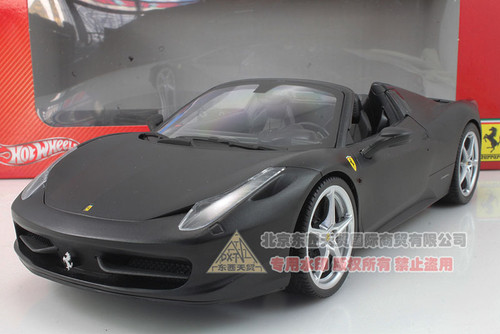 1/18 Hot Wheels Hotwheels Ferrari 458 Italia Spider (Black) Diecast Car Model