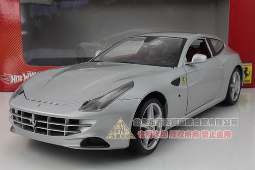 1/18 Hot Wheels Ferrari FF (Silver) Diecast Car Model