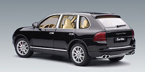 1/18 Autoart PORSCHE CAYENNE TURBO - BLACK Diecast Car Model 78062