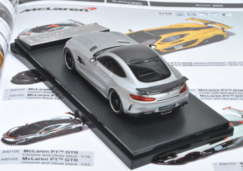 1/43 Almost Real AlmostReal Mercedes-Benz MB AMG GTR GT R (Silver) Diecast Car Model Limited 399